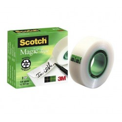 Cinta adhesiva invisible Scotch magic medidas 19 mm x 33 m