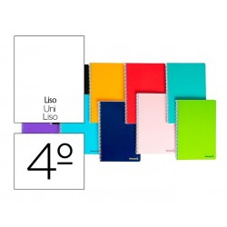 Cuaderno espiral Liderpapel serie Witty cuarto tapa dura 80 hojas 75 gramos liso colores surtidos