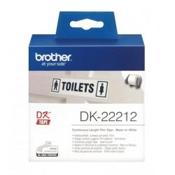 Brother DK22212 etiqueta plástica continua 62 x 15,24 mt