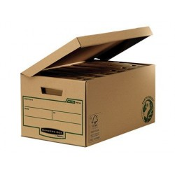 Cajón cartón reciclado Fellowes para almacenamiento de archivadores, capacidad 6 cajas de archivo 80 mm.