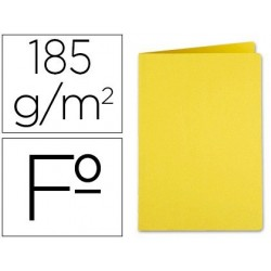 Subcarpeta Liderpapel folio amarillo intenso cartulina de 185 gr. Envase de 50 uds.