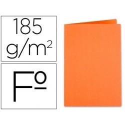 Subcarpeta Liderpapel tamaño folio color naranja intenso 185 gr. Envase de  50 unidades.