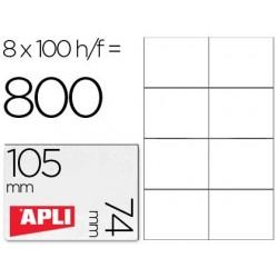 Etiquetas adhesivas Apli 1279 tamaño 105 x 74 mm