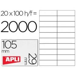 Etiquetas adhesivas Apli 1299 tamaño 105 X 29 mm