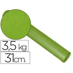 Bobina de papel fantasia kraft liso kfc bobina 31 cm x 200 m, 3,5 kg. color pistacho