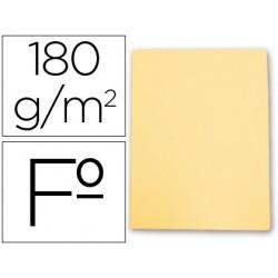 Subcarpeta Gio-Elba folio color amarillo pastel cartulina de 180 gr. Envase de 50 uds.