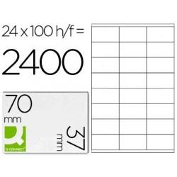 Etiquetas adhesivas Q-connect KF10647 tamaño 70 x 37 mm