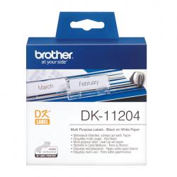 Etiquetas Brother DK11204 papel térmico 400 etiquetas blancas de 17 x 54 mm para impresoras QL