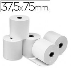 Rollo de papel electra - offset medida 37,5 x 75 mm. Envase de 10 rollos.