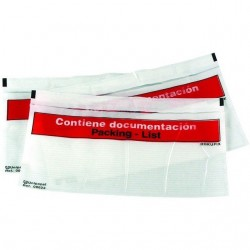 Sobres portadocumentos packing list docufix de 165x122 mm. Caja 1.000 uds