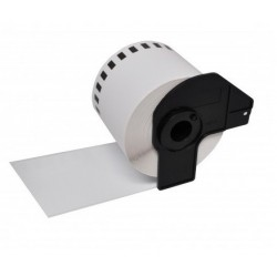 Brother DK22205 compatible, etiquetas blancas de papel térmico 62 mm x 30,48 m