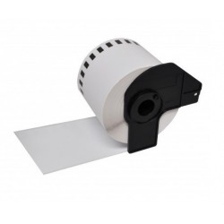 Brother DK22225 compatible, etiquetas blancas de papel térmico 38 mm x 30,48 m