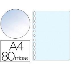 Fundas multitaladro Q-connect Din A4 cristal. Envase de 10 uds.